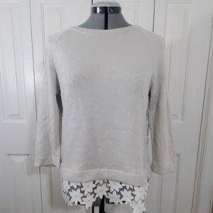 J.CREW Cream Sweater Size S